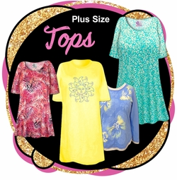 CLEARANCE PLUS SIZE TOPS & TEE'S