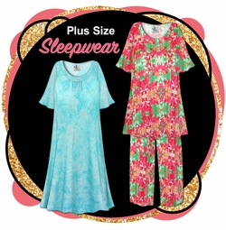 CLEARANCE PLUS SIZE SLEEPWEAR