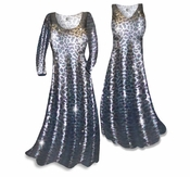 CLEARANCE! Metallic Leopard Slinky Plus Size & Supersize Tank Dress 0x 2x