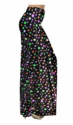 SOLD OUT! Black Multi Dots Slinky Print Special Order Customizable Plus Size & Supersize Pants, Capri's, Palazzos or Skirts! Lg to 9x