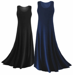 Black or Navy Slinky or Spandex Plus Size & Supersize Dress Lg XL 0x 1x 2x 3x 4x 5x 6x 7x 8x