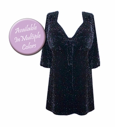 Glimmer Tie Babydoll Shirt - Many Colors! Plus Size & Supersize Lg XL 1x 2x 3x 4x 5x 6x 7x 8x