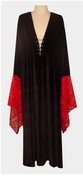 SALE! Black & Red Gothic Lacey Lace-up Velvet Plus Size Dress or Shirt Supersize Halloween Costume 1x 2x 3x 4x 5x 6x 7x 8x