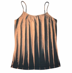 SOLD OUT! Black & Rust Tie Dye Spaghetti Strap Plus Size Tank Top 5x