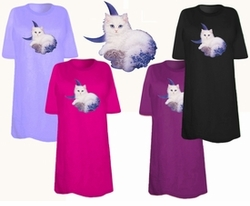 SOLD OUT! FINAL SALE! Blue Moon Kitty Plus Size & Supersize T-Shirts 2x