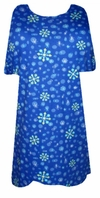 SOLD OUT! SALE!  Blue Snowflakes Plus Size T-Shirt with Glimmer Snowflakes 2x