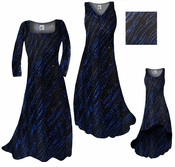 CLEARANCE! Blue Streaks Glimmer Slinky Print Plus Size & Supersize A-Line or Princess Cut Dresses & Jackets 0x