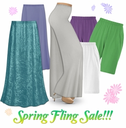 Spring Fling Plus Size Bottoms on Sale!