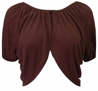 Brown Soft Short Sleeve Plus Size Supersize Shrug  XL 0x 1x 2x 3x 4x 5x 6x 7x