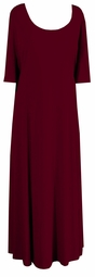 Burgundy Slinky Princess Cut Short Sleeve Plus Size & Supersize Dresses 0x 1x 2x 3x 4x 5x 6x 7x