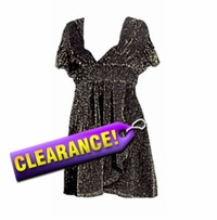 SALE! Black Glimmer Plus Size & Supersize Babydoll Top XL 0x 1x 2x 3x 4x 5x 6x 7x 8x