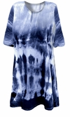 SOLD OUT! CLEARANCE! Blue Seas Tie Dye Plus Size T-Shirt 3xl