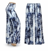 CLEARANCE! Blue & White Tie Dye Slinky Print Plus Size & Supersize Palazzo Pants XL 0x