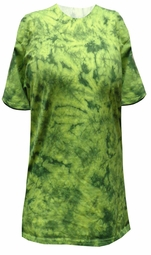 SOLD OUT! Bright Lime Green With Dark Green Tie Dye Plus Size T-Shirt 5xl