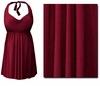 CLEARANCE! Plus Size Burgundy 2PC Halter or Straps Style Swimsuit/Swimdress 1x