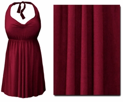 CLEARANCE! Burgundy 2PC Halter Style Swimsuit/Swimdress Plus Size & Supersize 1x 6x