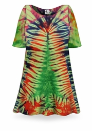 SOLD OUT! CLEARANCE! Christmas Tree Tie Dye Plus Size T-Shirt 4XL