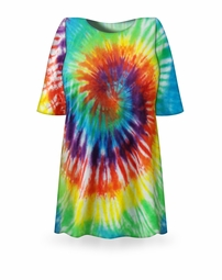 SOLD OUT! CLEARANCE! Classic Rainbow Swirl Tie Dye Plus Size T-Shirt 6XL
