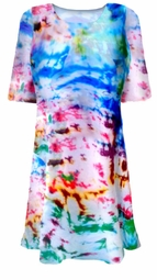 SOLD OUT! CLEARANCE! Colorful Blue Green Purple Tie Dye Plus Size T-Shirt 4xl