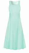 CLEARANCE! Creamy Mint Poly Cotton Princess Cut Plus Size Dress 0x 3x 5x