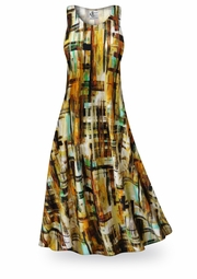 SOLD OUT! CLEARANCE! Crosshatch Slinky Print Plus Size & Supersize Dresses 1x