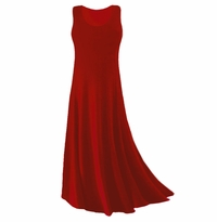 SOLD OUT! CLEARANCE! Dark Red Slinky Plus Size & Supersize Tank Dress 3x