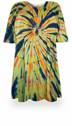 SOLD OUT! CLEARANCE! ! Fireworks Glory Tie Dye Plus Size & Supersize X-Long T-Shirt  8x