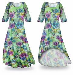 CLEARANCE! Flower Illuminations Slinky Print Plus Size & Supersize Dress 3x