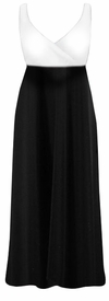 CLEARANCE! Gorgeous Black & White Plus Size Empire Waist Dress 2x