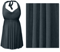 CLEARANCE! Gray 2PC Halter or Straps Style Swimsuit/Swimdress Plus Size & Supersize 0x 2x