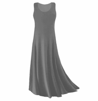 SOLD OUT! CLEARANCE! Gray Slinky Plus Size & Supersize Tank Dress 1x