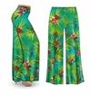 SOLD OUT! CLEARANCE! Green Orchid Slinky Print Plus Size & Supersize Palazzo Pants 3x