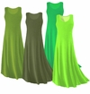 SOLD OUT! CLEARANCE! Plus Size Green Slinky Tank Dress 2x