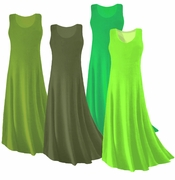 CLEARANCE! Green Slinky Plus Size & Supersize Tank Dress 0x
