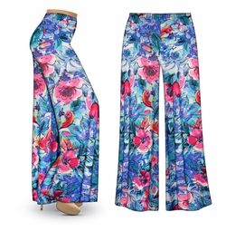 CLEARANCE! Hawaiian Tropic Slinky Print Plus Size & Supersize Palazzo Pants XL