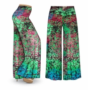CLEARANCE! Jungle Slinky Print Plus Size & Supersize Palazzo Pants 5x