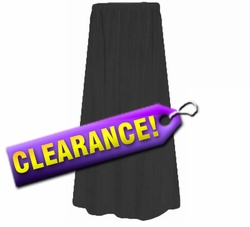 SALE!  CLEARANCE! Lovely Plain Solid Black or Navy Poly/Cotton Elastic Waist Plus Size Skirt 1x 2x 3x 4x 5x 6x 7x 8x 9x Extra Long