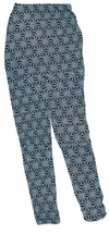 SOLD OUT! SALE!  CLEARANCE! Lovely Plus-Size Blue Dot Star Assymetrical Print Pants with Elastic Waist 3x