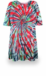 SOLD OUT! CLEARANCE! Manic Panic Tie Dye Plus Size & Supersize X-Long T-Shirt 4x
