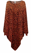 CLEARANCE! Orange Leopard Glittery Slinky Plus Size Supersize Poncho