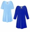 FINAL CLEARANCE SALE! Plus Size Light or Royal Blue Slinky Top 2x 3x
