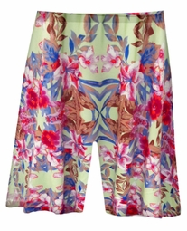 SOLD OUT! SALE! CLEARANCE! Plus Size Catalina Print Spandex Swim / Bike Shorts 1x