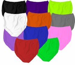 CLEARANCE! Plus Size High Waist Solid Color Poly/Cotton Panties 1x 4x 7x 8x