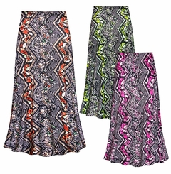 CLEARANCE! Plus Size Safari in Green Slinky Print Skirt 5x