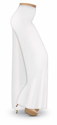 CLEARANCE! Plus Size White Wide Leg Palazzo Pants in Slinky, Velvet or Cotton Fabric 1x 2x