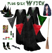CLEARANCE! Plus Size Witch Costume and Accessories! Plus Size & Supersize XL 0x 1x 2x 3x 4x 5x