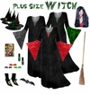 FINAL CLEARANCE SALE! Plus Size Witch Costume and Accessories! Plus Size & Supersize XL 0x 1x 2x 3x