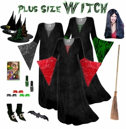 FINAL CLEARANCE SALE! Plus Size Witch Costume and Accessories! Plus Size & Supersize XL