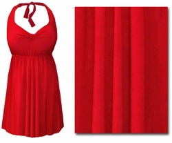 CLEARANCE! Red 2PC Halter or Straps Style Swimsuit/Swimdress Plus Size & Supersize 0x