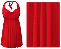 CLEARANCE! Plus Size Red 2PC Halter or Straps Style Swimsuit/Swimdress 0x